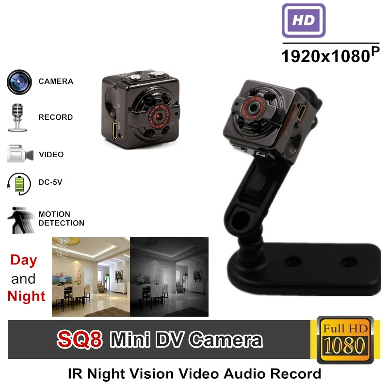 TANGMI Full HD Video 1080p DV DVR Mini Camera Camcorder SQ8 Micro Cam Motion Detection With Infrared Night Vision - LADSPAD.UK