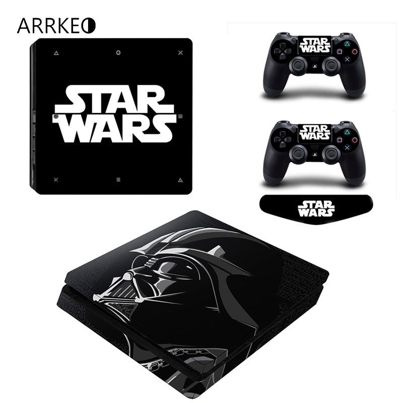ARRKEO Star Wars Vinyl Cover Decal PS4 Slim Skin Sticker for Sony PlayStation 4 Slim Console & 2 Controllers Skins Stickers - LADSPAD.UK