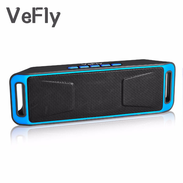 VeFly Wireless 4.2 Bluetooth Speaker, column Stereo Subwoofer USB Speakers computer TF Built-in Mic Bass mp3 player Sound Box - LADSPAD.UK