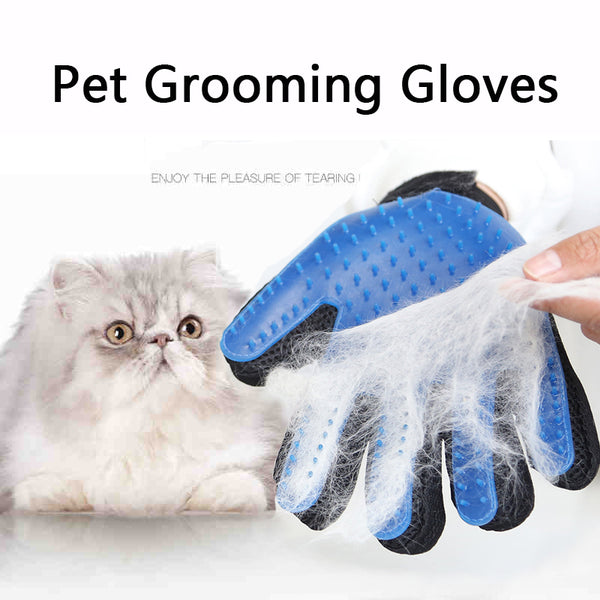 True Silicone Dog Brush Glove Cat Hair Removal Grooming Accessories for Pet Bath Touch Deshedding Cleaning Tool Pet Supplies