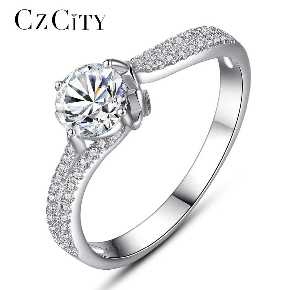 CZCITY Luxury Tiny CZ Paved with One Carat Zircon - LADSPAD.COM