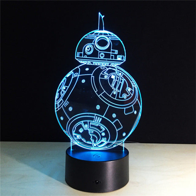 ZEORX Spider man Changeable color Cartoon Hero Luces Navidad Iron Man Led Night Lights 3D LED Desk Lamp Bedside Lamps - LADSPAD.COM