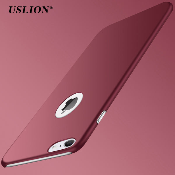 USLION Ultra Thin PC Matte Case For iPhone 7 Plus Simple Plain Phone Back Cover Slim Coque For iPhone7 6 6S Plus 5 5s SE Case