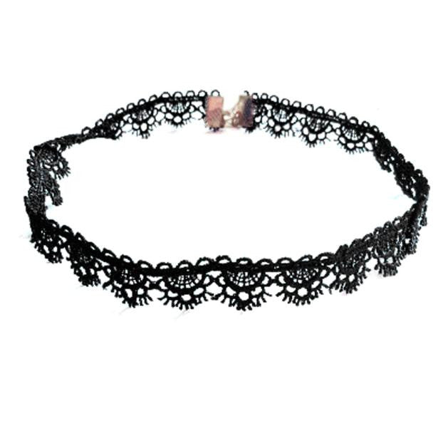 Personalized Chic Black Lace Side Flower Necklace Choker - LADSPAD.COM