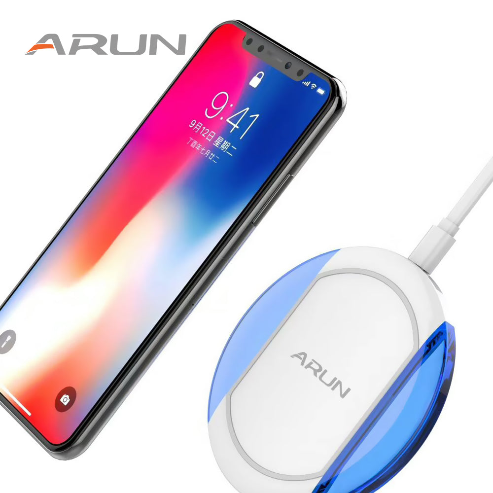 Fast Wireless Charger for iPhone 8 and iPhone X Samsung Galaxy - LADSPAD.COM