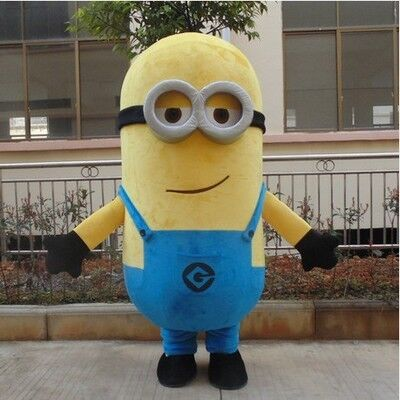 Free ship 14 design Halloween Outfit Costumes suit Despicable minion mascot costume for adults minion mascot costume - LADSPAD.UK