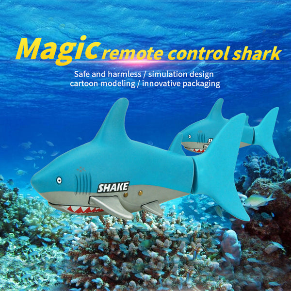 Lovely Kids Baby RC Shark Fish Coke Can Radio Control RC Mini Electronic Shark Fish Boat Children Toy Gift 3CH 4 Way 2017
