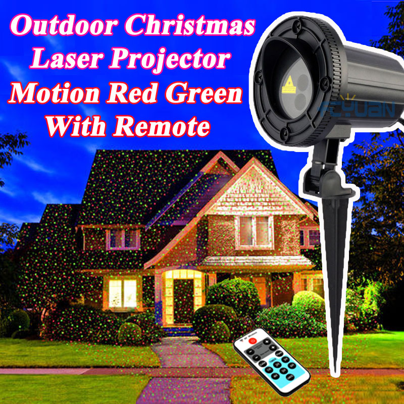Waterproof Holiday Light Outdoor Christmas Laser Projector Fairy Lights Motion Red Green Mix With Remote Decorations For Home - LADSPAD.COM