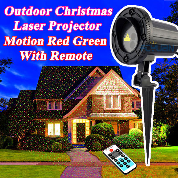 Waterproof Holiday Light Outdoor Christmas Laser Projector Fairy Lights Motion Red Green Mix With Remote Decorations For Home - LADSPAD.UK