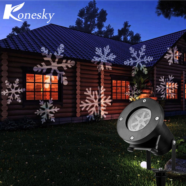 12 Types Christmas Laser Snowflake Projector Outdoor LED Lamp Waterproof Disco Lights Home Garden Star Light Indoor Decoration - LADSPAD.UK