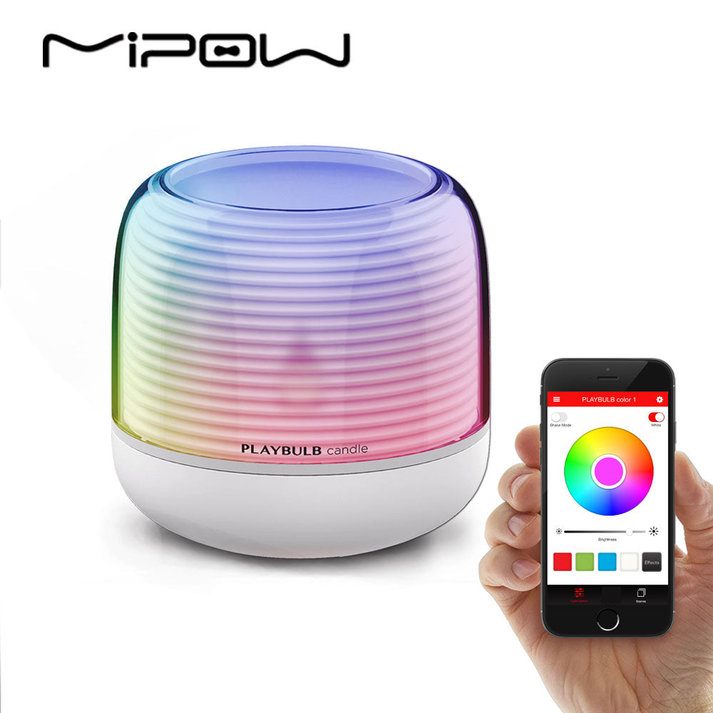 PLAYBULB Smart Remote Candle USB Charge Candle Holders Timer RGB Changeable Light Color Flameless LED - LADSPAD.COM