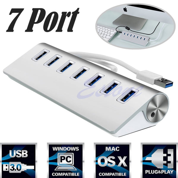 USB 3.0 HUB Aluminum 7 Ports High Speed - LADSPAD.UK