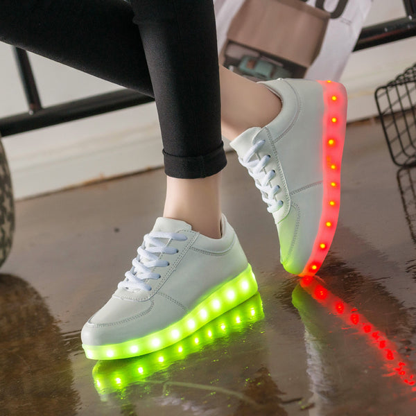 7ipupas Luminous sneakers Kids led shoe do with Lights Up christmas lighted shoes Boy Girl tenis Led simulation Glowing Sneakers - LADSPAD.UK