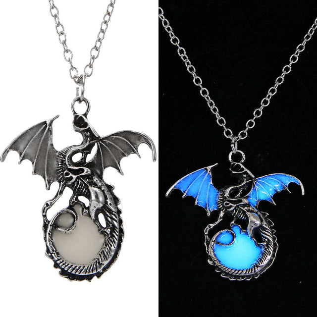 Game of Throne Jewellery Glow In The Dark Dragon Necklace - LADSPAD.UK