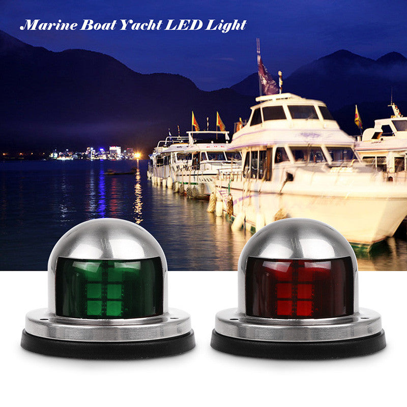 Stainless Steel 12V LED Bow Navigation Sailing Signal Light for Marine Boat Yacht - LADSPAD.UK