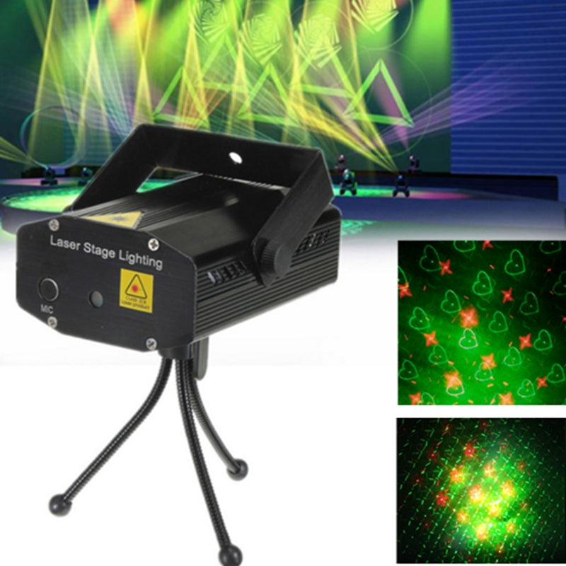 AC110 220V 4 in 1 Mini Led Stage light Red&Green laser light projector Lazer Stage party entertainment disco fairy lighting - LADSPAD.COM