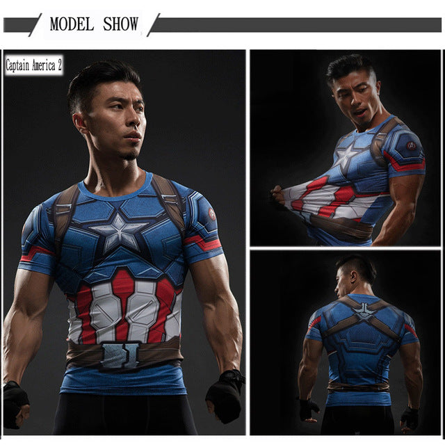 Compression Shirt Batman VS Superman T Shirt Tee 3D Printed T-shirts Men Short  sleeve Fitness Cosplay Costume Slim Fit Top Male - LADSPAD.COM