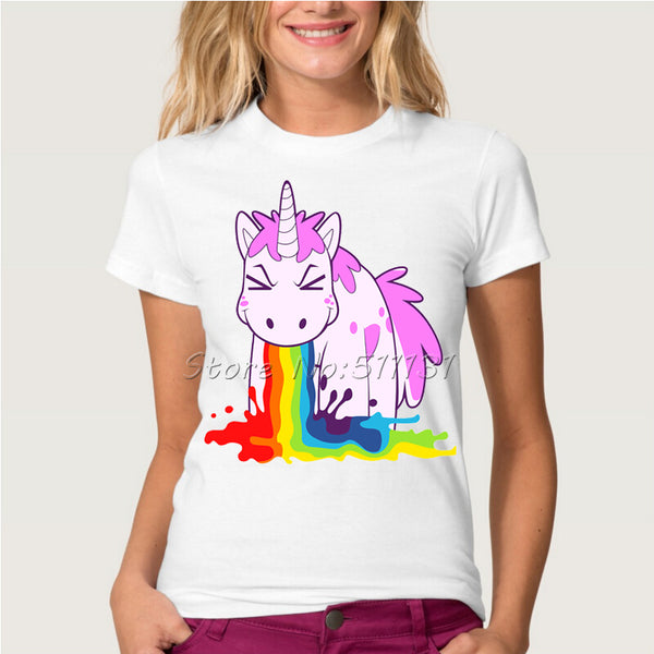 Funny Unicorn Rainbows T-Shirt