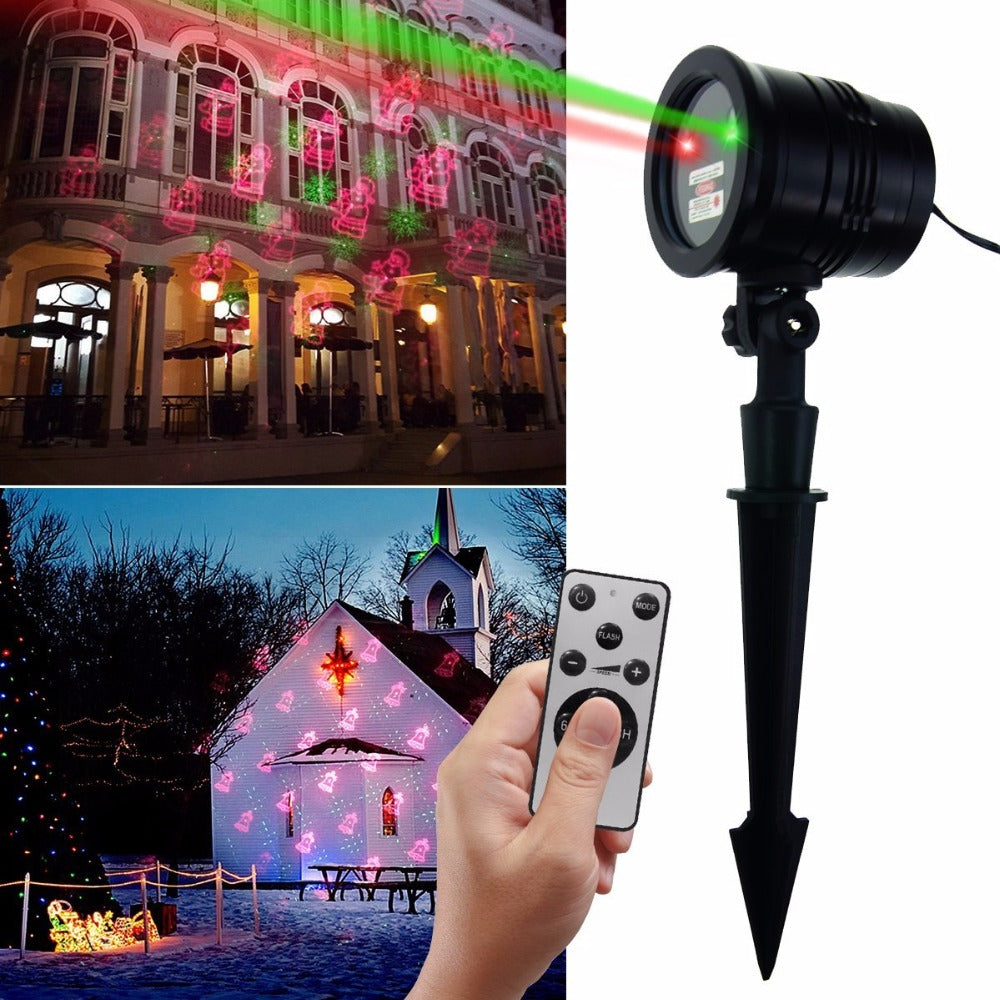 Christmas Laser Lights Projector Outdoor Landscape LED Projection Light with Wireless Remote Decorative for House, Holiday - LADSPAD.UK