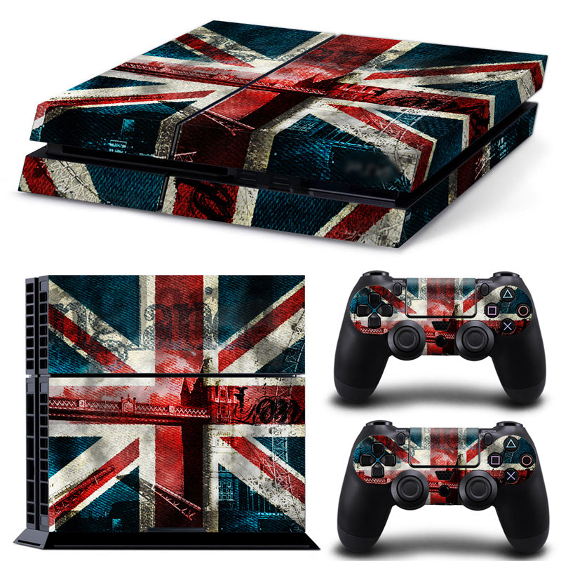 Hot England Flag Decals for PS4 console and two controllers skin sticker decals cover - LADSPAD.COM
