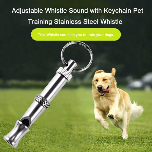 New 1Pc Hot Pet Dog Training Adjustable Whistle Sound Pet Products For Dog Puppy Dog Whistle Stainless Steel Whistle Key Chain - LADSPAD.COM