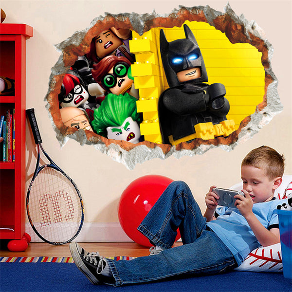 3D Effect Batman Wall Sticker - LADSPAD.UK