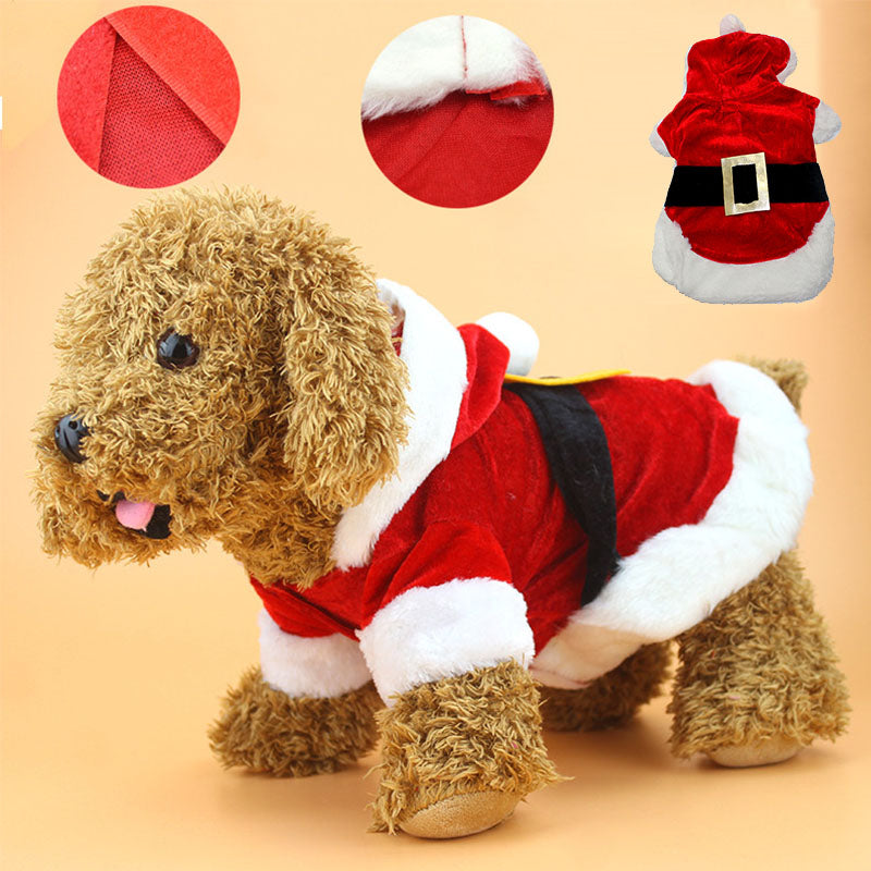 Christmas Dog Clothes Santa Costume Pet Dog Cat Clothes Chihuahua Coat Clothing Cute Pet Christmas Outfit for Dog Cat 26S1 - LADSPAD.UK