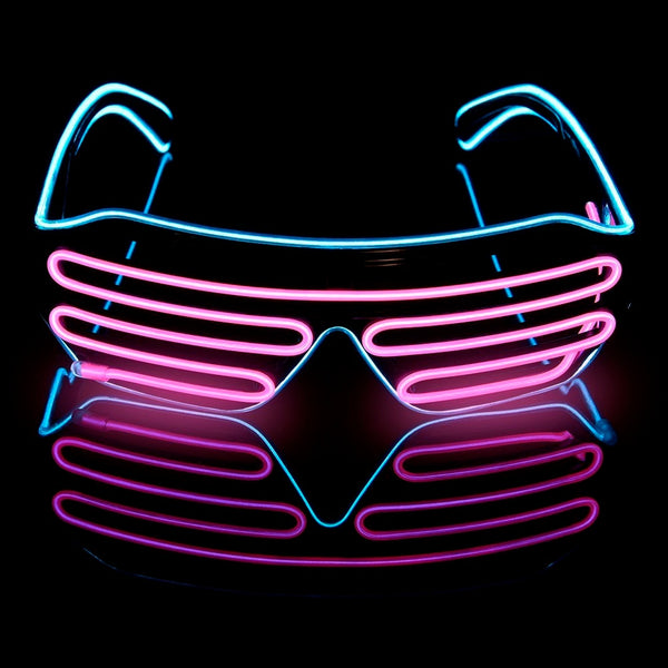 LED Glasses Light Up Shades Flashing Luminous Rave Night Christmas Activities Wedding Birthday Party Decoration 4 Colors