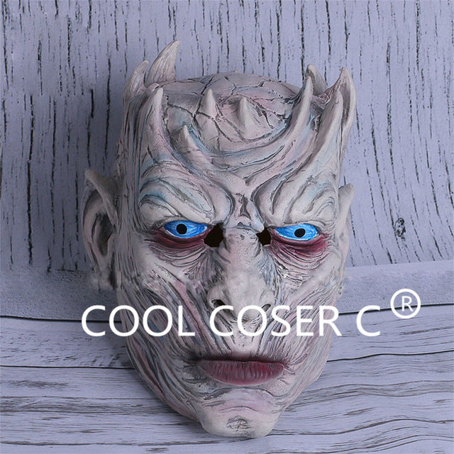 Game of Thrones Night's King Cosplay Mask The white Walkers Masks Halloween Costume Accessories Face Cover Haunted Props - LADSPAD.UK