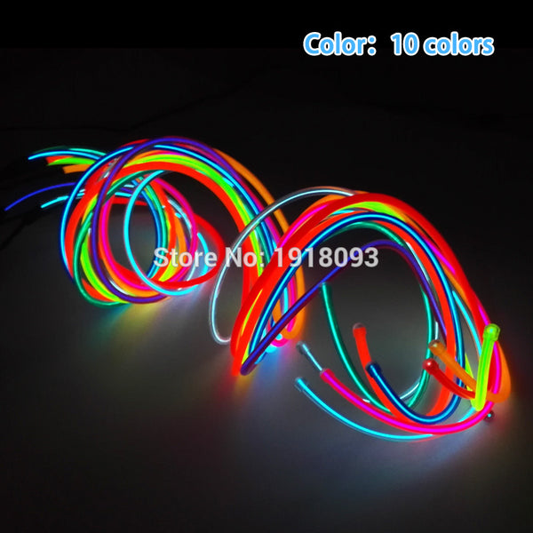 Cheap! High-grade 5.0mm 10 Colors 1-25 Meter Style Energy saving EL wire LED Strip Neon light For House,Garden decoration - LADSPAD.UK