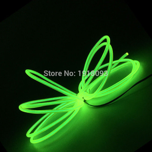 Cheap! High-grade 5.0mm 10 Colors 1-25 Meter Style Energy saving EL wire LED Strip Neon light For House,Garden decoration - LADSPAD.COM