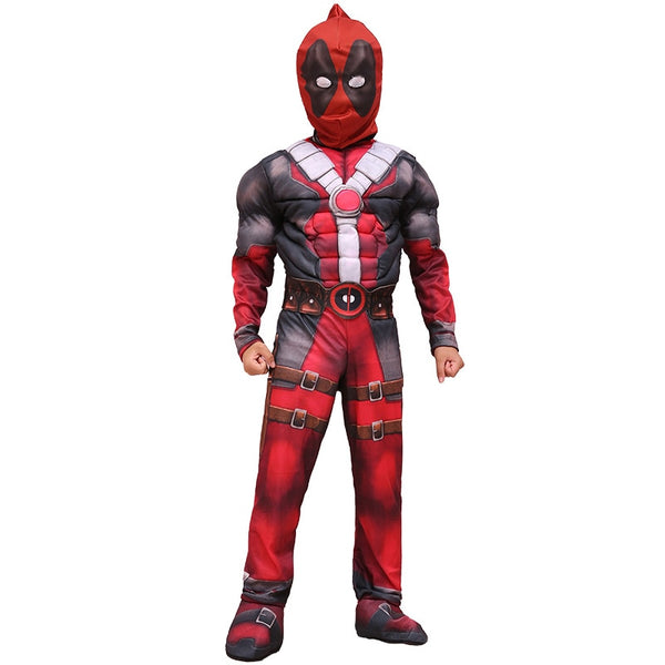 New Arrival Deluxe Boys Marvel Anti-Hero Deadpool Children Muscle Movie Halloween Carnival Party Cosplay Costume - LADSPAD.UK