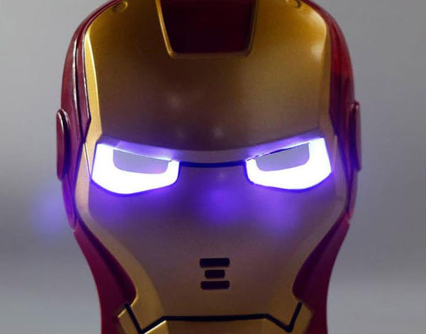 With LED lighting Masks / Steel Children cartoon show mask / new mask with light-emitting toys / games Dress Up - LADSPAD.COM