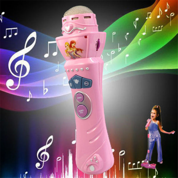 Wireless Girls Boys LED Microphone Karaoke Singing Kid Funny Music Toy - LADSPAD.COM