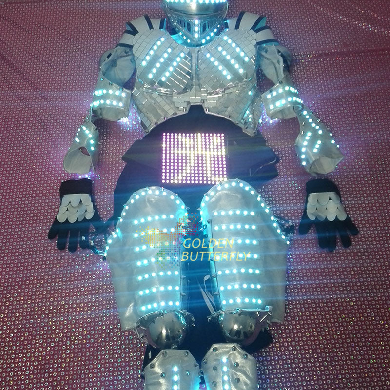 2017 LED Clothing Full color color clothes Children show clothing Display function LED Costumes Performance clothing  LED Robot - LADSPAD.UK