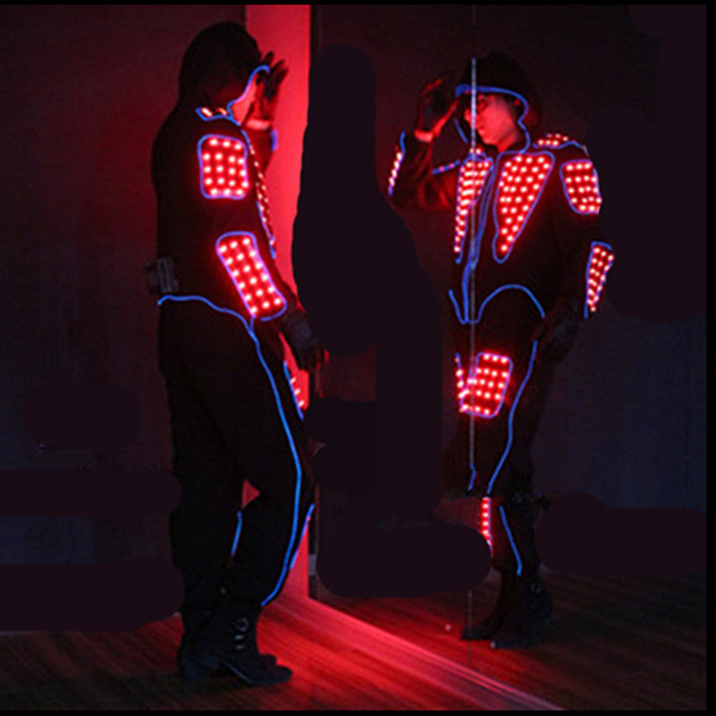 Full Color Led Luminous Men Costume Can Change 7 Colors  Performance Wear Clothes Illuminate Led Light Emitting Clothing - LADSPAD.COM