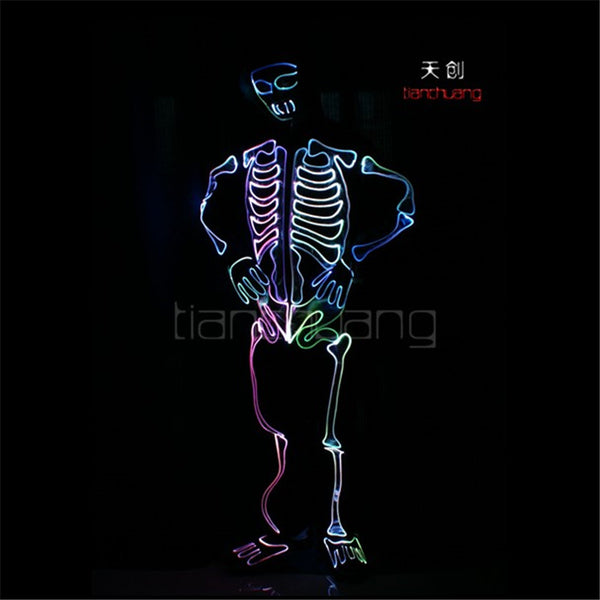 TC-146 LED colorful light robot costumes Full color party disco wears ballroom dance ghost programming Halloween clothes led men - LADSPAD.COM