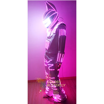 Led Costume 2017 New Fashion LED Lights Up For Clothing / Costumes Luminous / Dress LED/ Robot Kryoman / Robot LED Costume - LADSPAD.COM