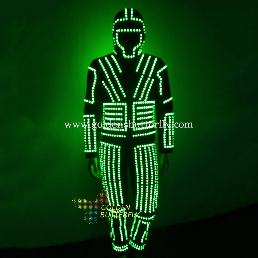 Robot LED Costume Luminous Costumes Glowing Stilts Clothes LED Clothing Talent Show Dancing Men's Suits Ballroom Dance Dress - LADSPAD.COM