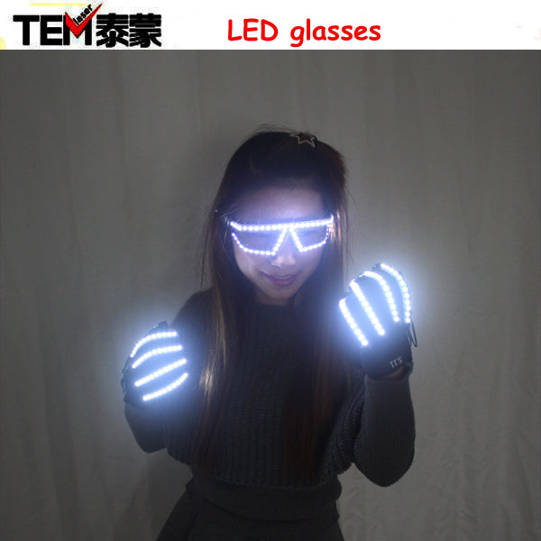 LED Light Emitting Costumes LED Luminous Glasses Gloves Stage Props For Children Birthday Gift, Laser Stage Props Party Supplies - LADSPAD.COM