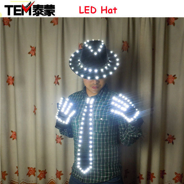 2017 Hot Sale Luminesce Gloves Light Props Costumes LED Robot Gloves LED gloves, LED neck tie, LED hat - LADSPAD.COM