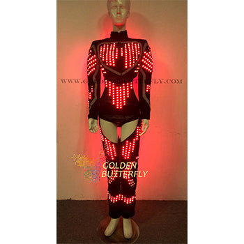 LED Clothing Women Luminous Costumes Glowing LED Suits 2017 Hot Fashion Show Lady LED Pants Dance Accessories Free Shipping - LADSPAD.UK