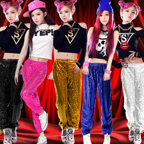 new female hip-hop dance modern dance jazz dance costumes sequins stage performance clothing fashion women's wear - LADSPAD.UK