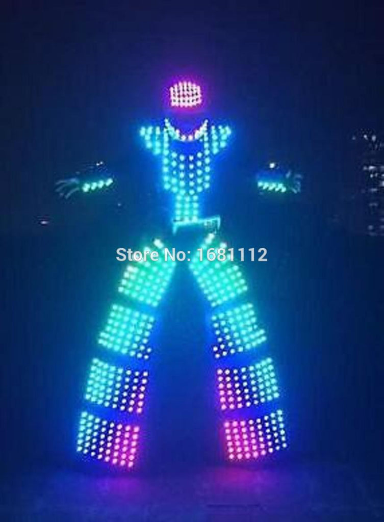 LED Costume/LED Clothing/Light suits/ LED Robot suits/ Luminous costume/ The cost includes stilts568 - LADSPAD.UK