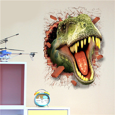 3d wall stickers Cartoon Dinosaur animals Removable Mural Wall Stickers for kids rooms home decor children bedroom decals DIY - LADSPAD.COM