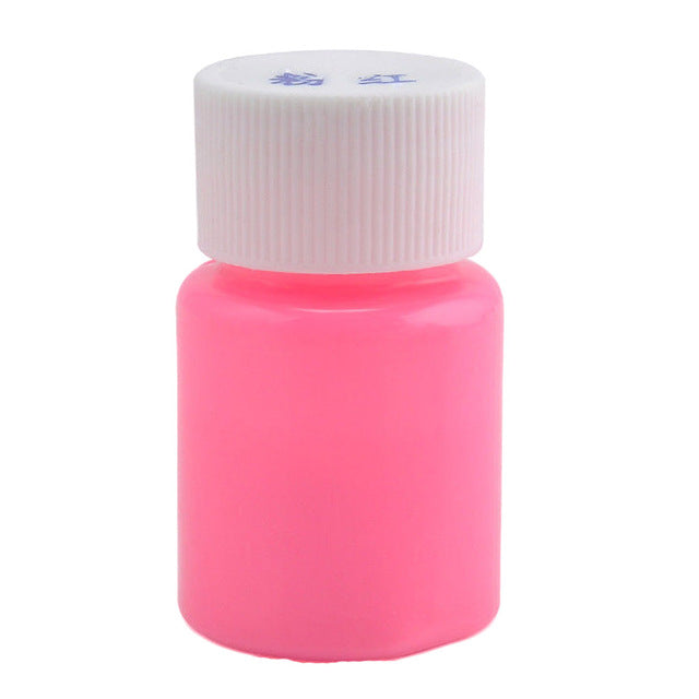 New Arrival  25g 12 color DIY Graffiti Paint Luminous Acrylic Glow in the Dark Pigment Party Walls Body Pait - LADSPAD.UK