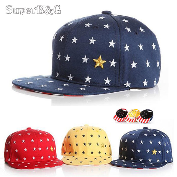 Baby/Childrens Baseball Cap Red/Yellow/Navy Stars - LADSPAD.UK