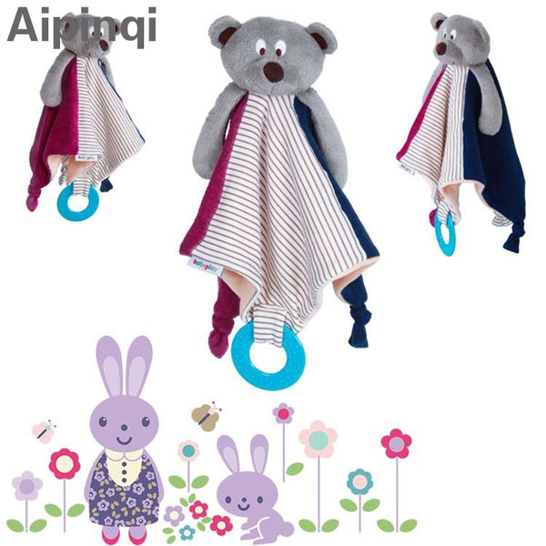 Baby bear soft handkerchief plush toy teething blankie - LADSPAD.UK