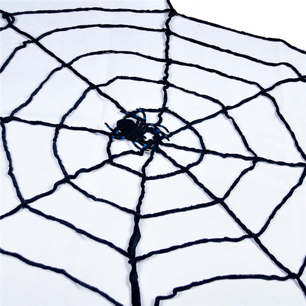 Black Wool Lines Window Giant Cobwebs Spider Web Christmas Party Cosplay Halloween Decoration Props Joking Toy Haunted House - LADSPAD.COM