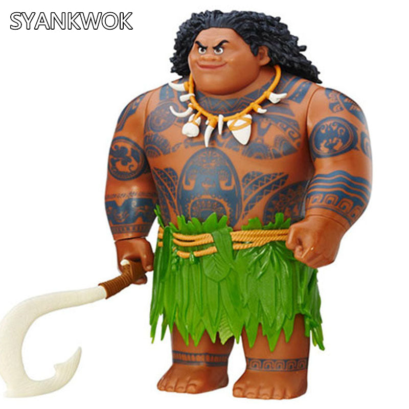 20cm Moana Movie Doll Waialiki Maui Figures Music Maui dolls Moana Action Figure Toy Christmas Birthday Gifts For Baby & Girl - LADSPAD.UK